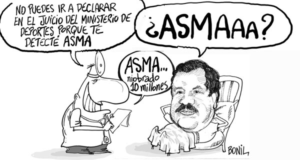 Al ex-ministro de deportes le detectaron ASMA