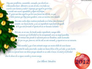 mensaje navidad 2012